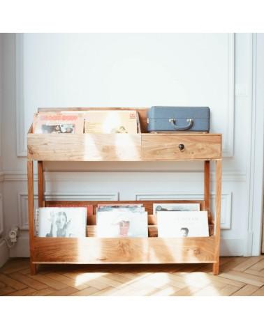 rangement vinyle bois