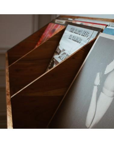 Meuble en bois pour vinyles Bobby